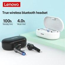 Lenovo HT08 bezprzewodowe słuchawki prawdziwe bezprzewodowe słuchawki Bluetooth Hifi dźwięki dotykowe wysokiej rozdzielczości połączenia sportowe słuchawki douszne z mikrofonem