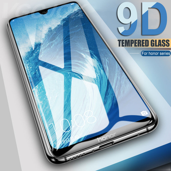 Перейти на Алиэкспресс и купить Защитное стекло 9D, закаленное стекло для Huawei Honor 9, 10, 20 Lite, 9i, 10i, 20i, 8X, 8A, 8C, 8S