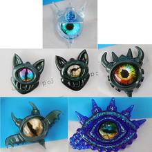 Eye Resin Mold Turkey Evil Eye Lucky Pendant Silicone Molds Jewelry Making Tools 094B(China)