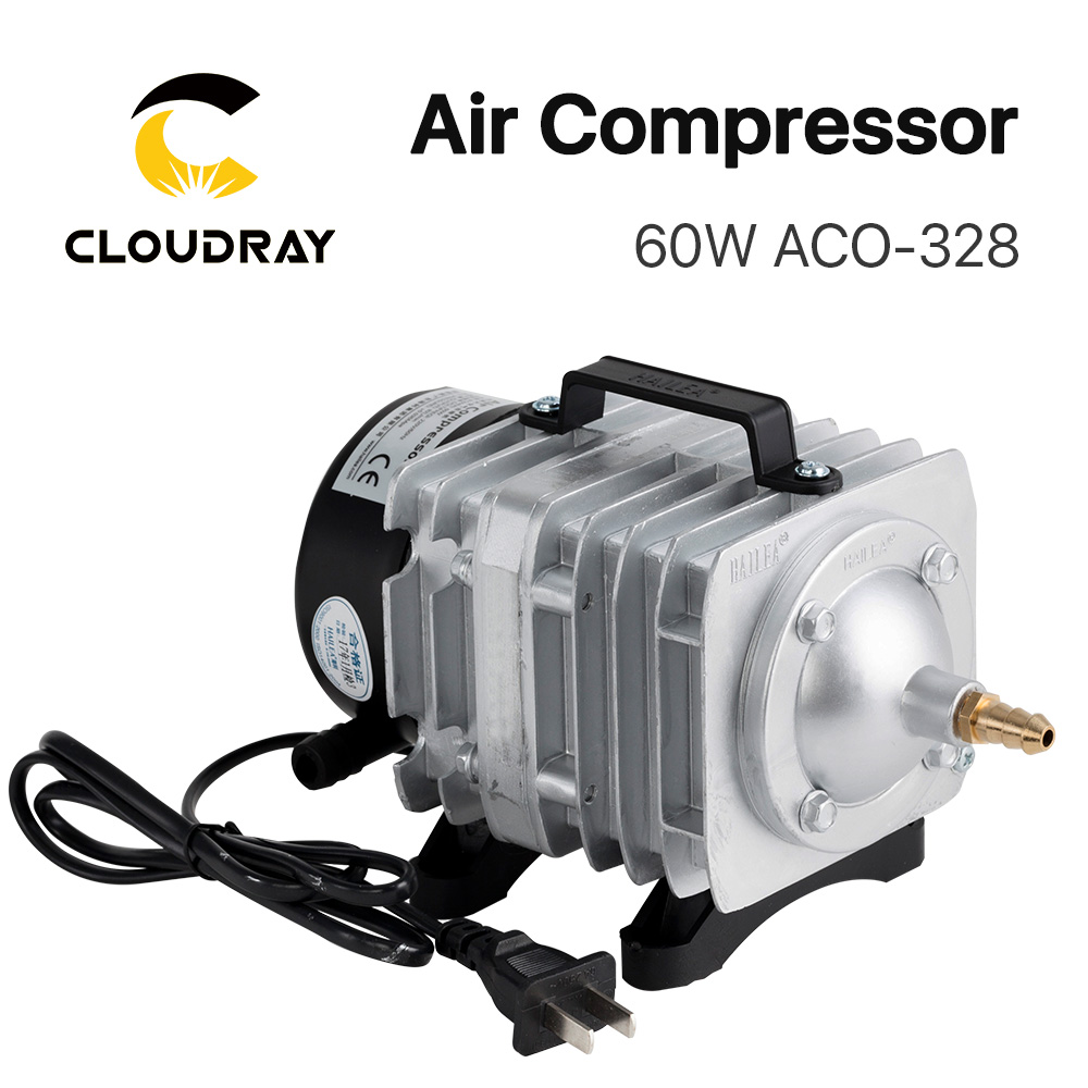 Cloudray 60W Air Compressor Electrical Magnetic Air Pump For CO2 Laser Engraving Cutting Machine ACO-328
