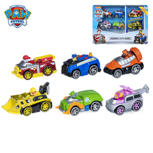 Genuine Paw Patrol Dog Vehicle Model Anime Character Ryder Chase Skye Action Figure Alloy Car Paw Patrol Dog Birthday Gift paw patrol dog cartoon plush backpack skye 3 7year chase small school bag soft harmless children action figures patrol backpack kindergarten multiple styles birthday gift outing mandatory with fruit with toys