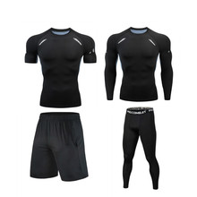 Tracksuit Sport-Wear Training-Tights Exercise Gym Compression Fitness Workout Jogging