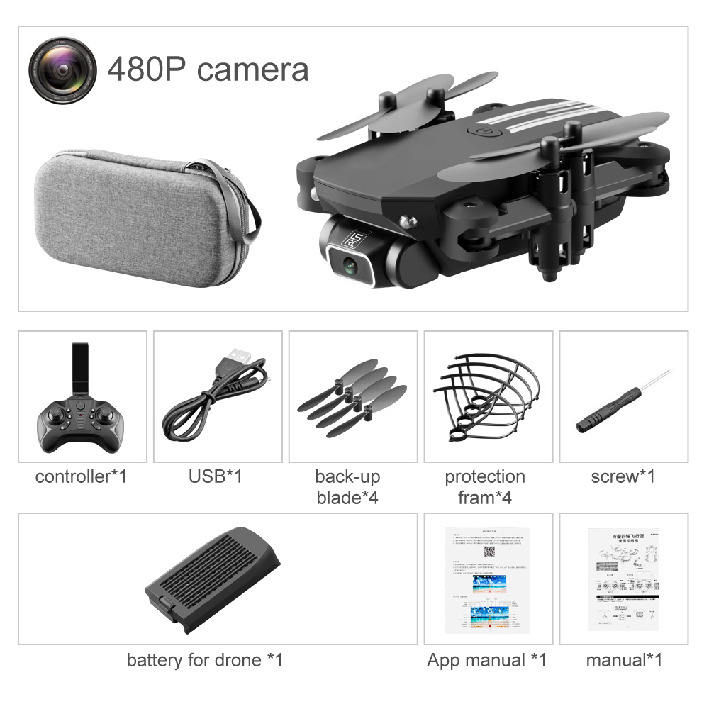SHAREFUNBAY drone 4k HD camera 1080P WiFi fpv drone height keeping drone with camera mini drone video live Quadcopter