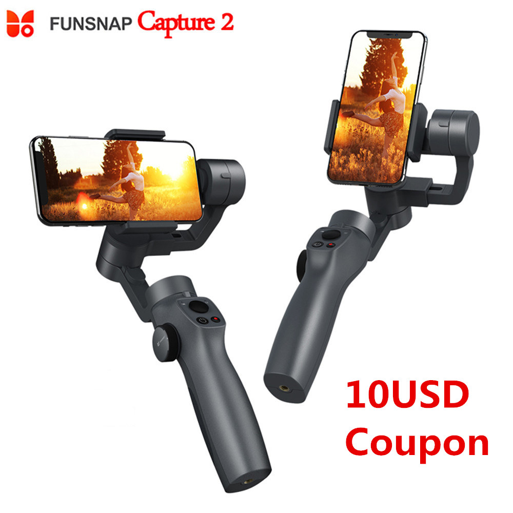 Nouveau Funsnap Capture 2 3 axes stabilisateur de cardan portable pour Smartphone GoPro SJcam XiaoYi caméra VS DJI OSMO 2 ZHIYUN FEIYUTECH