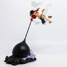 Figurine daction Anime une pièce vitesse quatrième Scultures grand singe D Luffy bataille combat couleur spéciale Ver 26cm PVC jouets poupée