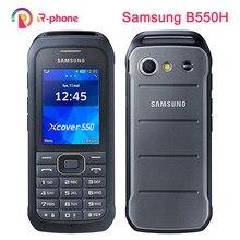 Original samsung xcover 550 2g 3g desbloqueado celular samsung b550h duplo núcleo 3mp 2.4