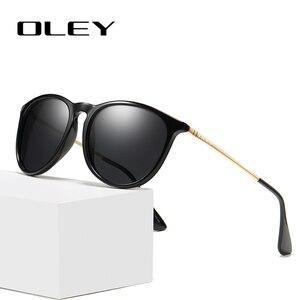 OLEY Новая женская конструкция очков дизайн дужек солнцезащитные очки Брендовые поляризованные мужские из нержавеющей стали материал Gafas De ...