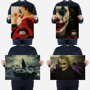 Hollywood famous classic movie character clown dark knight kraft poster restaurant cafe DC nostalgic decorative painting image