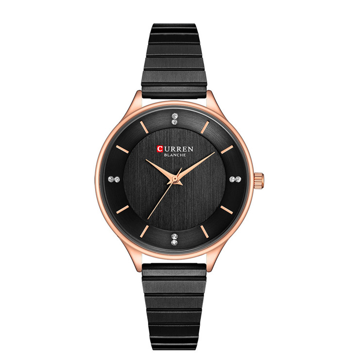 Женские часы Relogio Feminino CURREN, новые женские часы, брендовые роскошные часы Difts для женщин, черные часы со стальным ремешком, повседневные