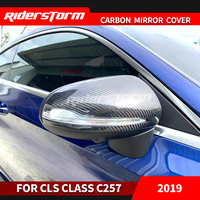 Carbon Fiber Rear View C257 Mirror Cover Mirror Caps Door Side Wing for Mercedes Benz CLS c257 Replacement Auto Parts