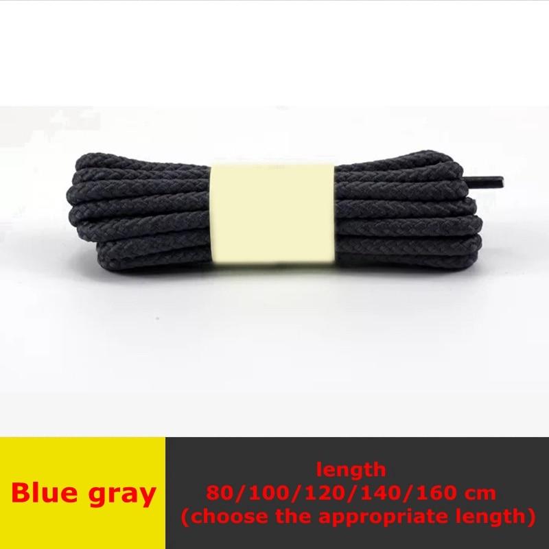 1 пара классические круглые шнурки Уличная обувь для прогулок на шнурках с белой высокой плотностью ткацкие кроссовки для отдыха шнурки унисекс - Цвет: Blue gray