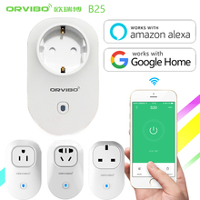 Orviboスマート無線lanソケットタイミング電源プラグで動作amazon alexa & googleホームスマートフォンapp制御スマートホームオートメーションb25
