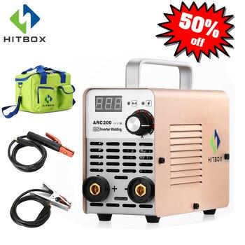 Soldador de arco HITBOX Inverter, Mini soldador de arco de 220V de tamaño pequeño ARC120 para uso doméstico, máquina de soldadura 120A MMA
