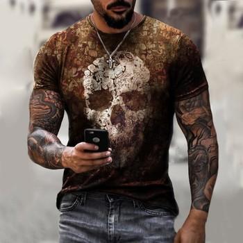 T-shirty dla męskiej fabryki 2021 nowy drukuj czaszka styl Hippie wzór t-shirty męskie Outdoor t-shirty w stylu Streetwear styl Oversize tanie i dobre opinie Na imprezę SHORT CN (pochodzenie) POLIESTER spandex summer 3D styl Z okrągłym kołnierzykiem tops Z KRÓTKIM RĘKAWEM