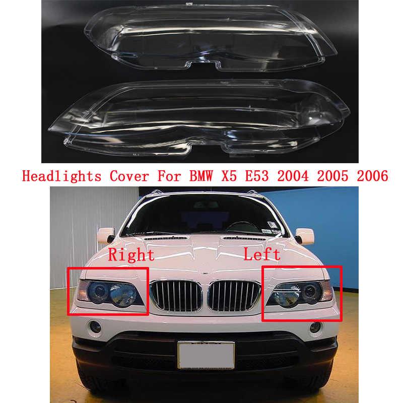 Auto Wasserdichte Scheinwerfer Scheinwerfer Lampe abdeckung Lampenschirm Helle Lampe Schatten Shell Cap Für BMW X5 E53 2004 2005 2006