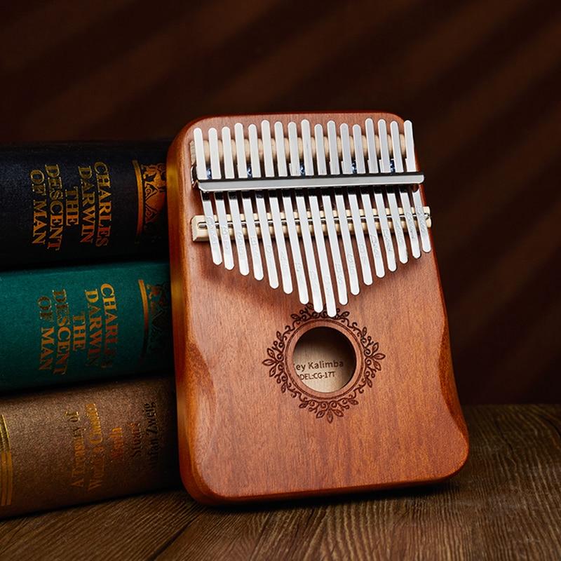 17 клавиш калимба большой палец пианино высокое качество дерево красное дерево Mbira тела Музыкальные инструменты с обучающей книгой калимба ...