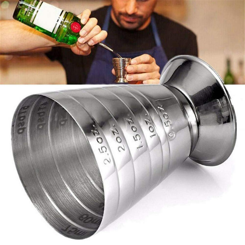Scale 75ML Bartending Measuring Cup Ounce Bar Jigger Bartender Drink Mixer Liquor Measuring Cup Barware Tool