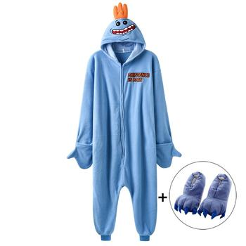 women onesie funny kigurumis mr meeseeks cartoon pajamas polar fleece rick morry sleepwear homewear party cosplay costume Women Onesie Funny Kigurumis Mr Meeseeks Cartoon Pajamas Polar Fleece Rick Morry Sleepwear Homewear Party Cosplay Costume