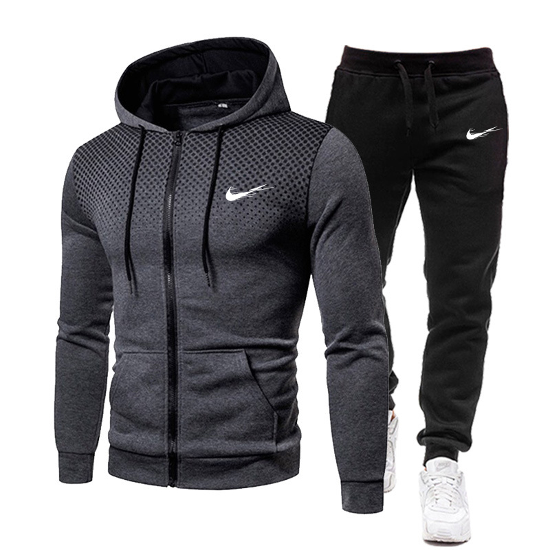 Men's 2 Piece Tracksuit Set Hoodie and Pants Pullover Sportswear Casual Wear Size S-3XL 1