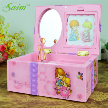 Dream Girl Music Box Plastic Musical Jewelry Boxes