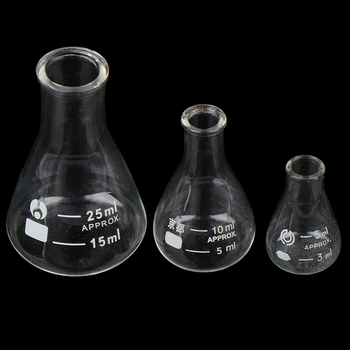 Hot sale Glass Conical Erlenmeyer Flask 5/10/25ml Supplies Borosilicate flask hot sale hot sale yds liquid nitrogen storage tank container ln2 dewar flask