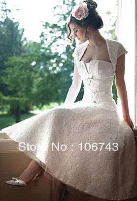 2016 Gown Free Shipping New Style Vestidos De Novia Best Sale Sexy Bride Party Custom Size Lace Short Wedding Dress With Jacket