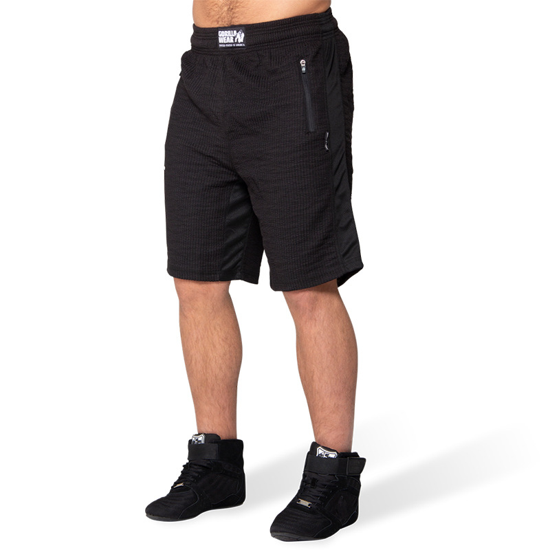 New Brand Men Shorts Gorilla Wear Gyms Fitness Bodybuilding Workout Jogger Breathable Quick Drying Bermuda Beach Shorts