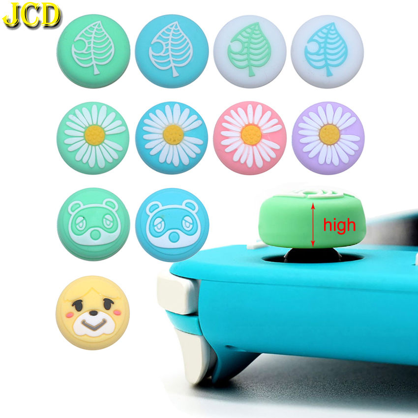 JCD 2pcs Animal Crossing Analog Silicone Thumb Grip For Nintend Switch NS Lite Joy Con JoyCon Controller Joystick Cap