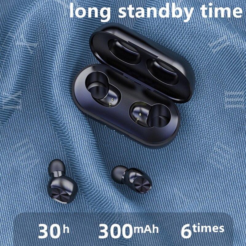 NEW B5 Bluetooth5.0 Earphone Wireless Earbuds Fingerprint Touch Earpieces wireless headphones 8D Stereo Dual-Mic Noise cancel
