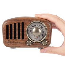 R919 Classical retro radio receiver portable Mini Wood FM SD MP3 Radio stereo Bluetooth radio Speaker AUX USB Rechargeable radio