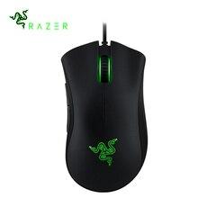 Razer Deathadder, ratón esencial, Ratón de juegos con cable USB profesional, 2000DPI, iluminación, ratón óptico ergonómico para ordenador, PC, nuevo