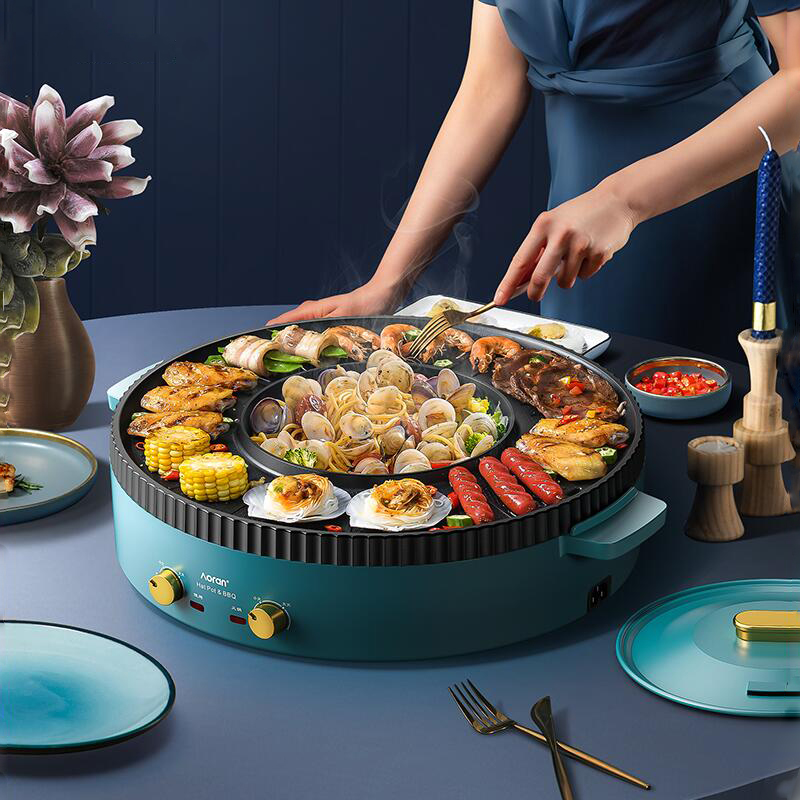 Barbecue Machine Hot Pot Multifunction Braised Frying Pan Barbecue Machine