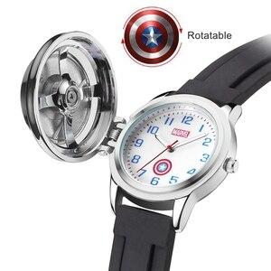 Image 2 - Marvel Avengers Super héros fer hommes enfants Quartz étanche montre à rabat enfant montres pour enfant étudiant horloge garçon cadeau rotatif