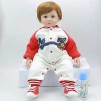 Rebron doll 55 silicone realistic bebe regeneration reborn baby boy girl toy surprise children's day gift Reborn boncas