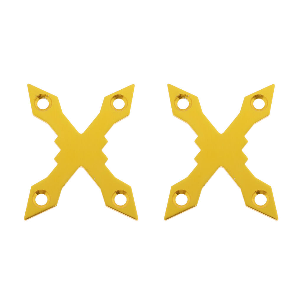 2pcs X-Shaped 4 Holes Aluminum Alloy Anti-Collapse Skateboard Longboard Deck Gaskets Pads