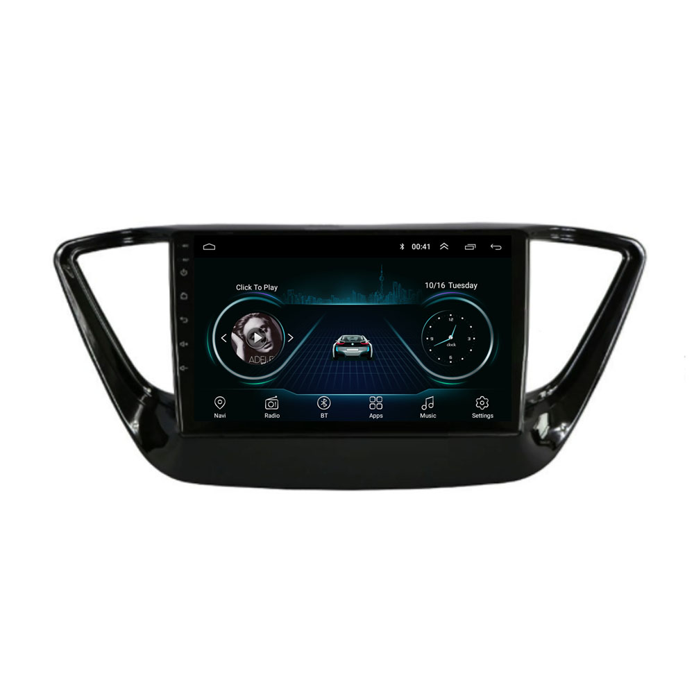 4G LTE Android 8.1 For <font><b>HYUNDAI</b></font> Solaris Verna <font><b>Accent</b></font> 2017 2018 2019 2020 Multimedia Stereo Car DVD Player Navigation <font><b>GPS</b></font> Radio image