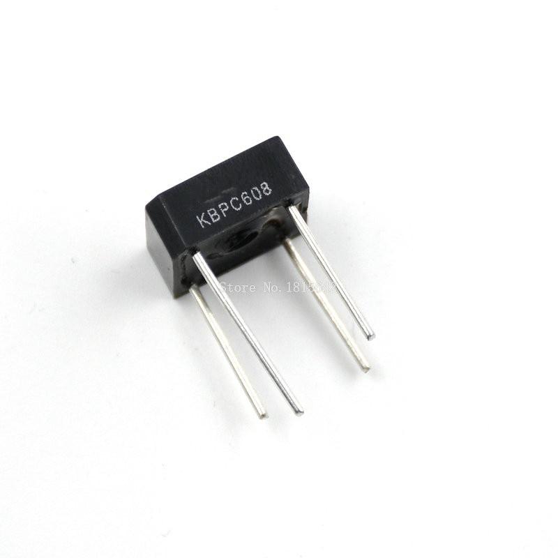10 pces kbpc608 KBPC-608 6a 800v única