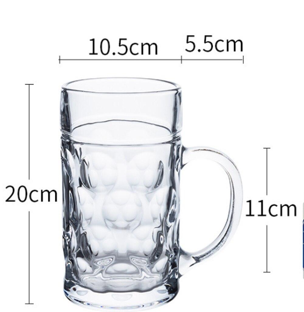 1150 Ml Mug Bir Kapasitas Besar Tebal Kaca Gelas Anggur untuk Penggunaan Rumah Tangga dengan Bir Kaca Air Minum untuk Rumah