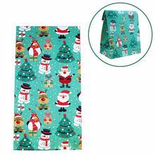 1 шт Рождественский Санта снеговик медведь Лось Пингвин Подарочный пакет Puoch рождественские милые подарки конфеты пакеты для печенья украшения на год