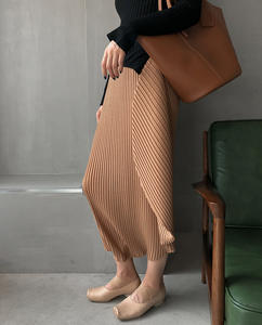 Pleated Wear Not Greasy Pleated Lace Fish Tail Medium Length Skirt-pants Harun Pants