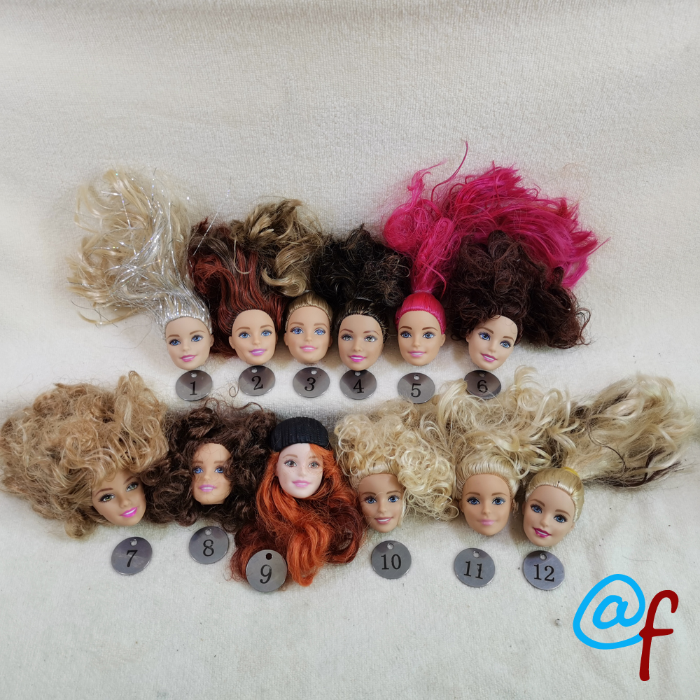 B20-1  Original Foreign Trade European Beauty1/6 OOAK NUDE Doll Head Mussed Hair For DIY Soft PVC Head With Fitting  90%NEW