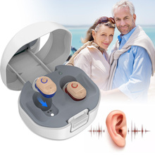 1 Pair Hearing Aids ITE USB Rechargeable Sound Amplifier Invisible Hearing loss For Elderly Deaf Simple Better Hearing