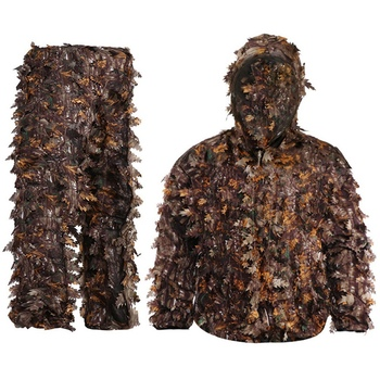 Sticky Flower Bionic Leaves Camouflage Suit Hunting Ghillie Suit Woodland Camouflage Universal Camo Set 6