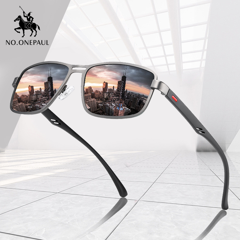 Driving Sunglasses Metal-Frame Square NO.ONEPAUL Fishing Polarized Male New-Fashion UV400