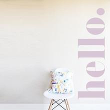 Наклейка на стену Hello, наклейка на стену, декор для комнаты, украшение для дома, украшение для гостиной