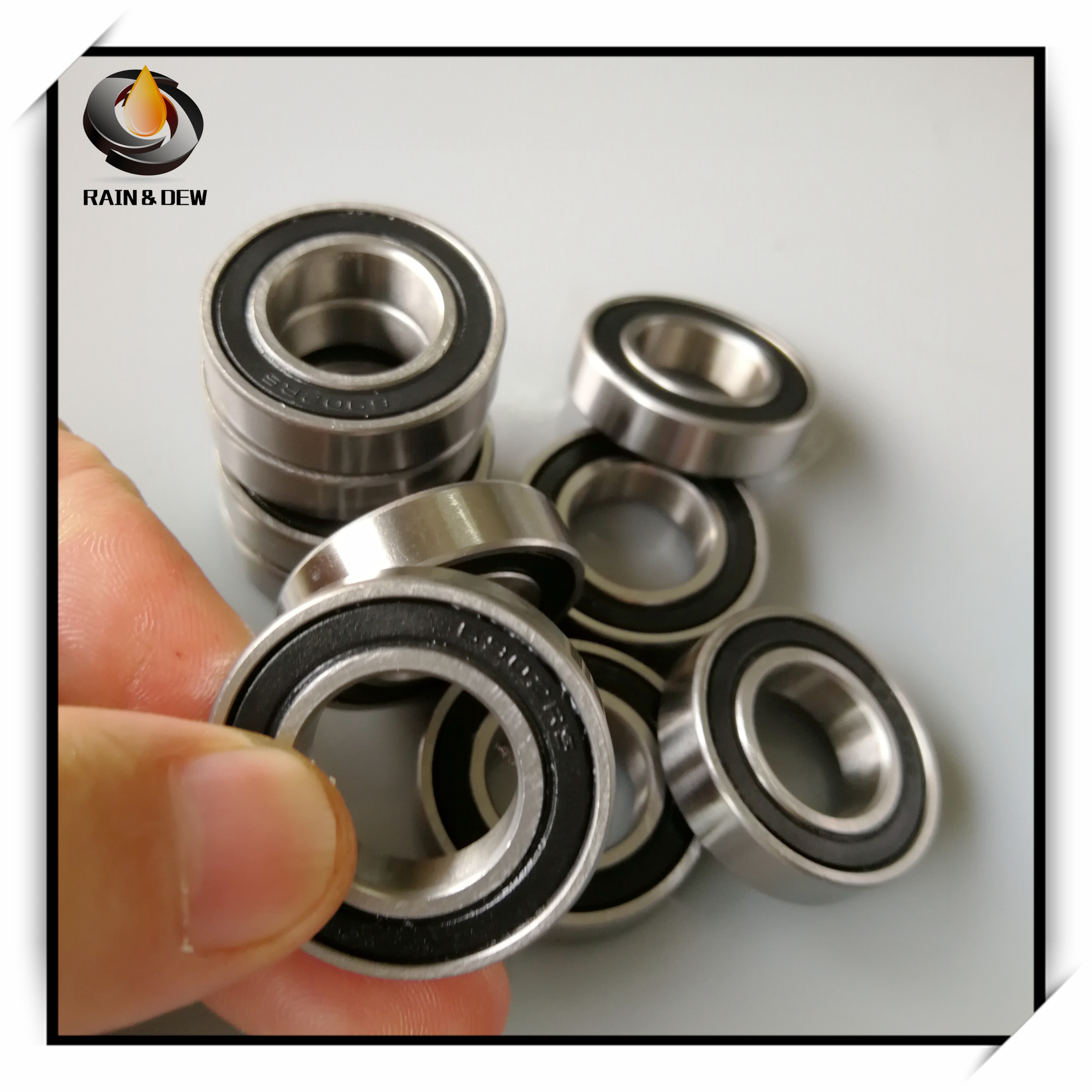 10Pcs <font><b>6902</b></font>-<font><b>2RS</b></font> <font><b>Bearing</b></font> ABEC-7 15x28x7 mm Metric Thin Section <font><b>6902</b></font> <font><b>2RS</b></font> Ball <font><b>Bearings</b></font> 6902RS 61902 RS image