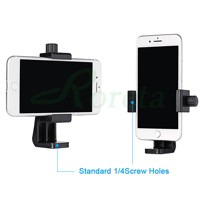 Roreta Tripod Mount Adapter Rotatable Stand Mount Adapter For iPhone xiaomi Samsung smart phone Tripod Stand 4