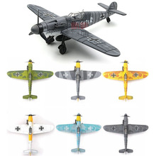 1PCS 1 48 World War II German Fighter Model B-109 4D Plastic Assemble Aircraft Military Building Model Toy For Children cheap GRAPMAN CN(Origin) no original box Vehicle Airplanes 6 years old Unisex Assemble Fighter