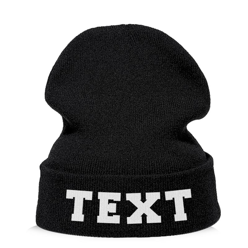 Customized Embroidered Your Logo Text Customized Winter Beanie Hats Fashion Warm Cap Unisex Elasticity Knit Beanie Hats Dropship