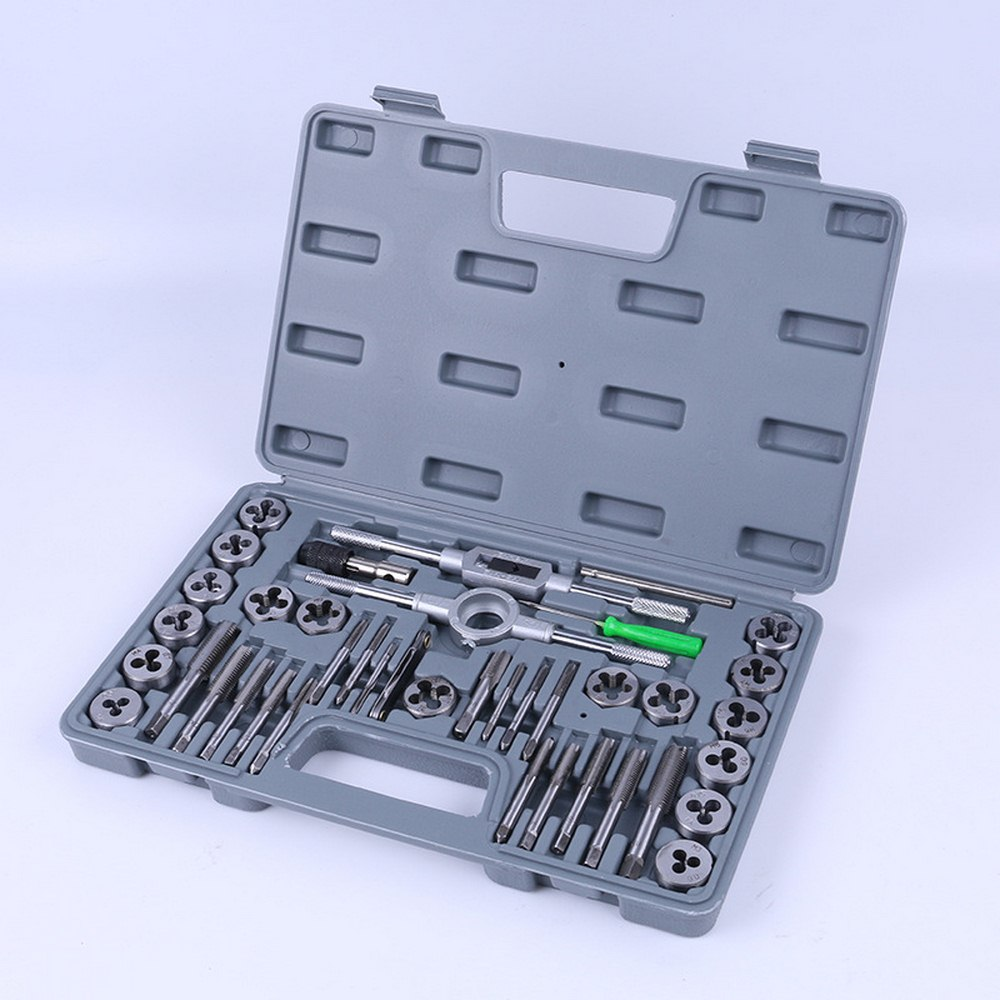 Standard SAE Tap and Die Set 40 Piece w// Case Threading Chasing Repair NEW